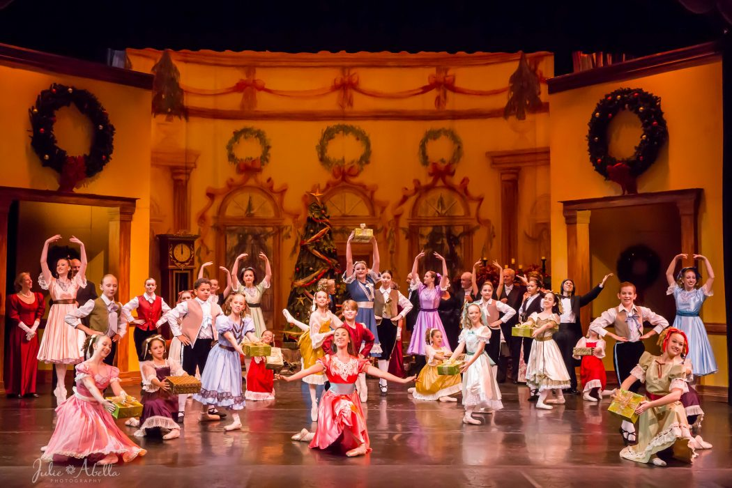 The party scene of the St. Augustine Ballet's Nutcracker. Photo by Julie Abella Photography