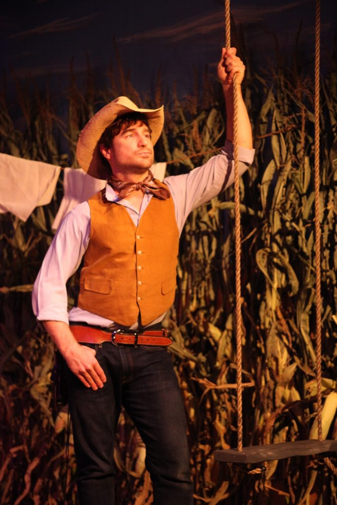 Jimmy Alexander plays Curly in Limelight Theatre's Oklahoma!