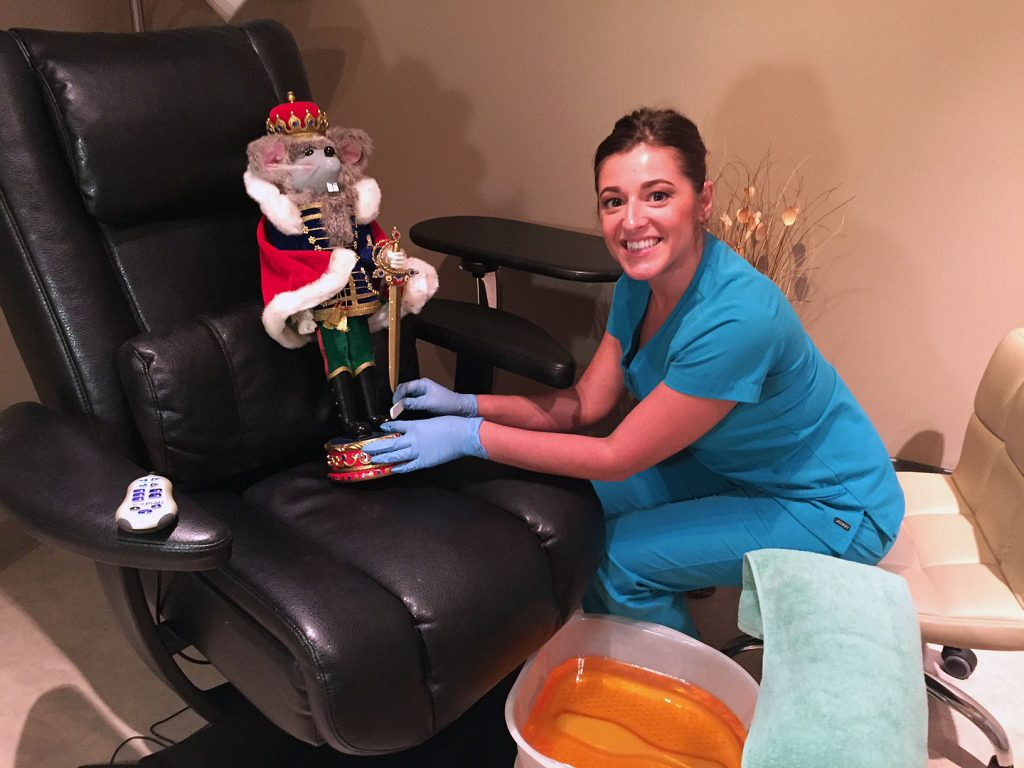Jessica Vogel and the St. Augustine Ballet's Nutcracker at Medi Nails and Spa, located in the St. Johns Medical Park. Contributed photo