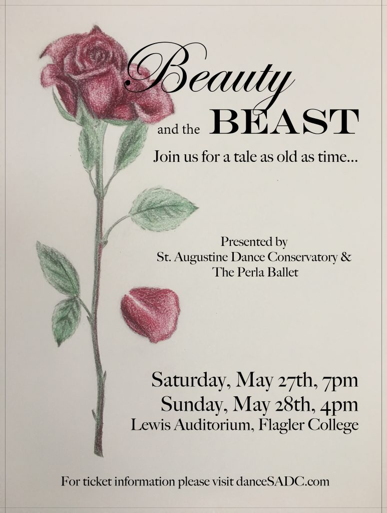 May 27-28: Beauty & The Beast Ballet by St. Augustine Conservatory