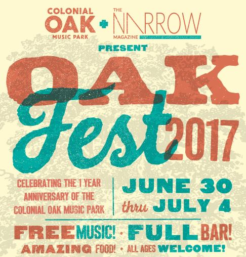 June 30-July 4: Oak Fest features five days of live music in downtown St. Augustine