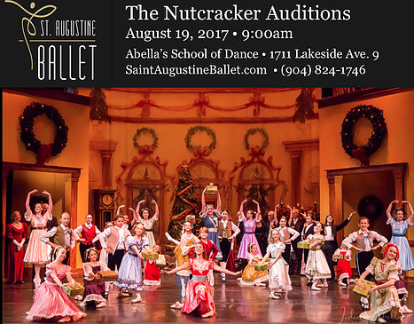 Aug. 19: St. Augustine Nutcracker Auditions