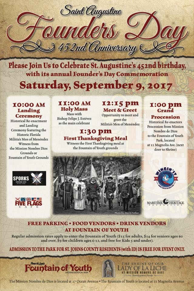 Sept. 9: St. Augustine's 452nd Anniversary celebration