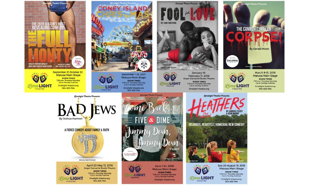 Limelight Theatre unveils posters for 2017-18 season