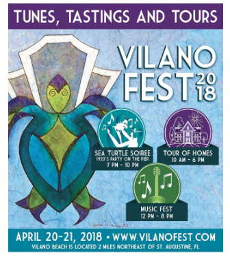 April 20-21: Vilano Fest 2018 features Music Fest, Tour of Homes, and Sea Turtle Soiree