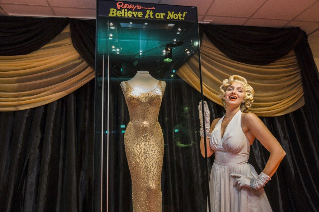 Feb. 10-March 31: Marilyn Monroe dress on view at St. Augustine Ripley's Believe it or Not