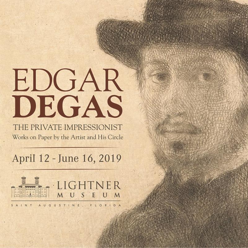 April 12-June 16: Edgar Degas exhibit at Lightner Museum