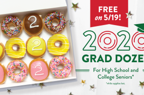 Free Krispy Kreme for grads: CAPS AND GOWNS … AND DOUGHNUTS!