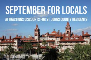 September for Locals features discounts at St. Augustine attractions for St. Johns County residents