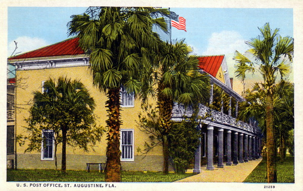 post office postcard