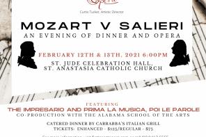 Feb. 12-13: Mozart v. Salieri by First Coast Opera (dinner and a show!)
